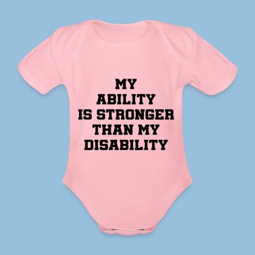 Ability3 - Baby bio-rompertje met korte mouwen