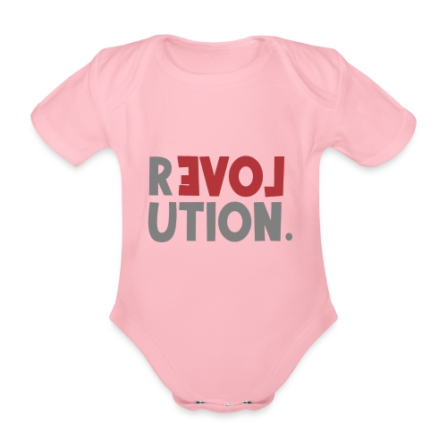 Revolution Love Sprüche Statement be different - Baby Bio-Kurzarm-Body