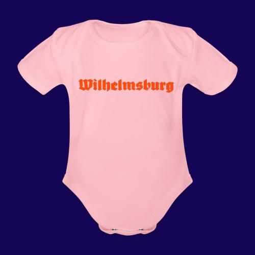 Wilhelmsburg Fraktur-Typo: Die Hamburger Elbinsel! - Baby Bio-Kurzarm-Body