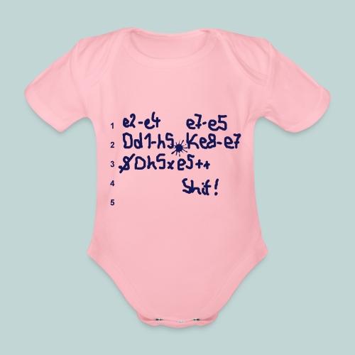 Schachpartie - Baby Bio-Kurzarm-Body