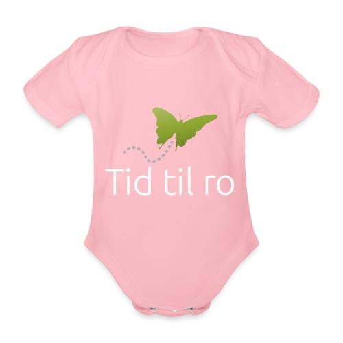 Tid til ro - Kortærmet babybody, økologisk bomuld