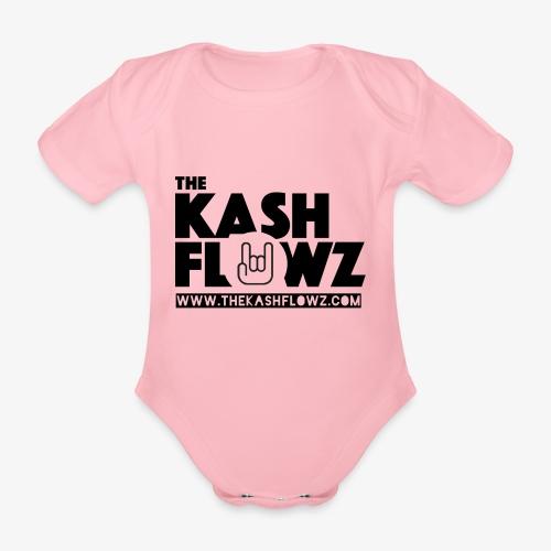 The Kash Flowz Official Web Site Black - Body bébé bio manches courtes