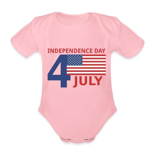 4 luglio giorno della indipendenza - Body ecologico per neonato a manica corta