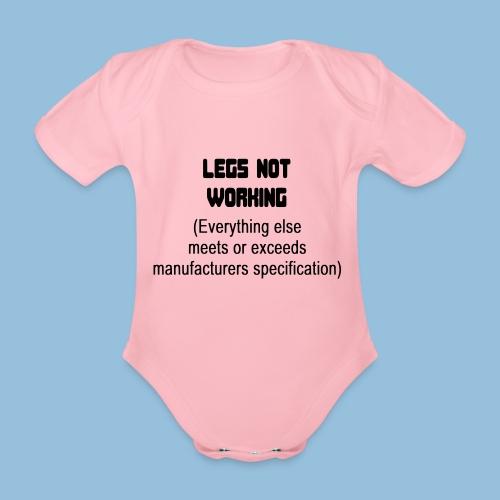 LEGSNOTWORK - Baby bio-rompertje met korte mouwen