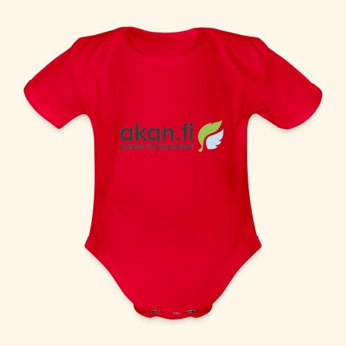 Akan Black - Ekologisk kortärmad babybody