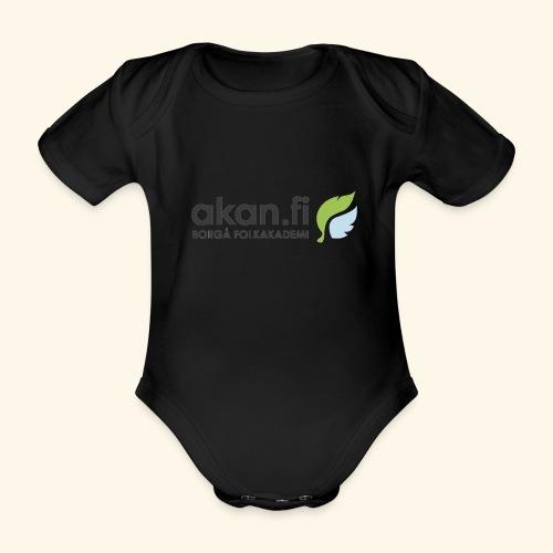 Akan Black - Vauvan lyhythihainen luomu-body