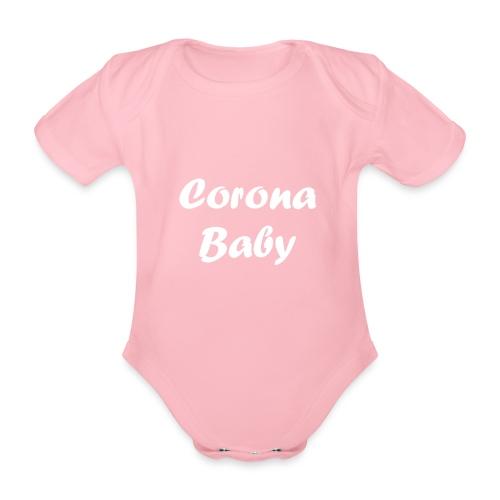 Corona baby merchandise white - Organic Short-sleeved Baby Bodysuit