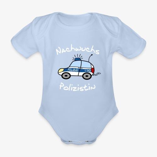 nachwuchs polizistin weiss - Baby Bio-Kurzarm-Body