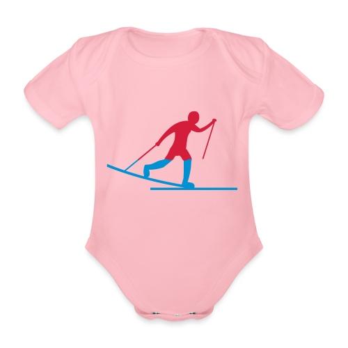 Skiløper - Økologisk kortermet baby-body