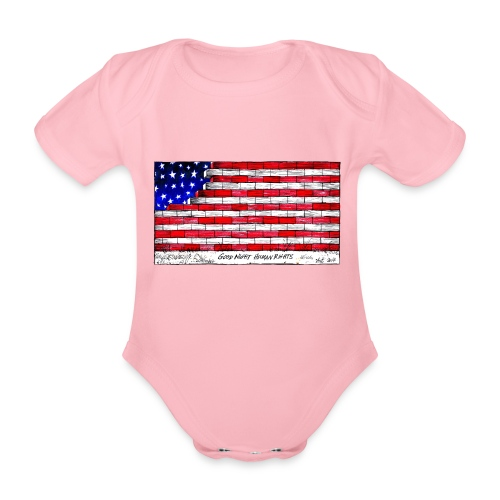 Good Night Human Rights - Organic Short-sleeved Baby Bodysuit