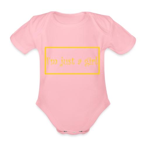 I' m just a girl #2 - Baby Bio-Kurzarm-Body