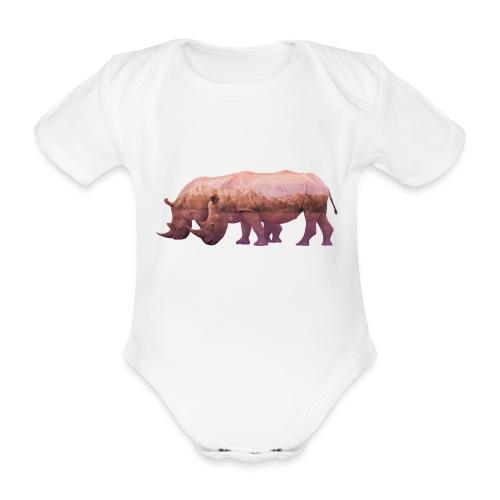 Nashorn Alpen - Baby Bio-Kurzarm-Body