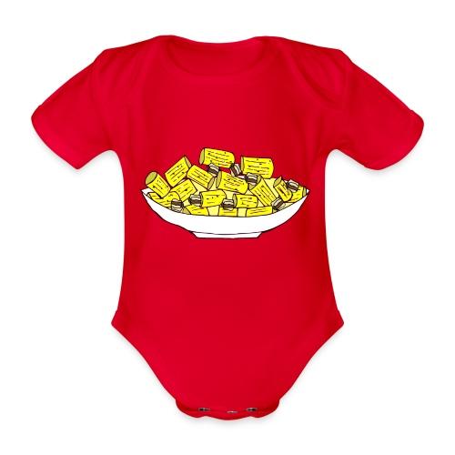 Stay healthy, stay carbonara - Body ecologico per neonato a manica corta
