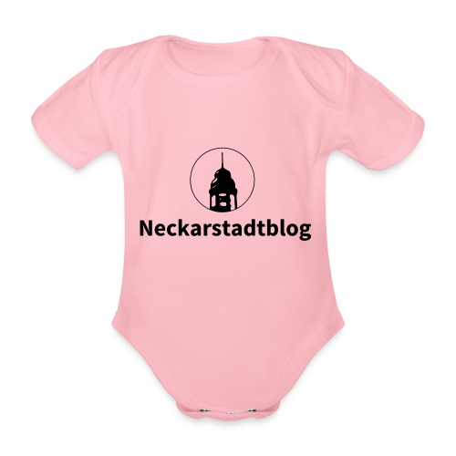 Neckarstadtblog – Logo und Schriftzug - Baby Bio-Kurzarm-Body