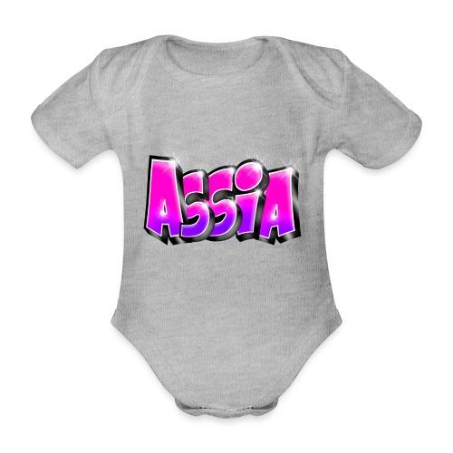 Assia graffiti name printable - Body Bébé bio manches courtes