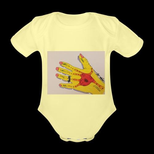 9D8D600F D04D 4BA7 B0EE 60442C72919B - Kortærmet babybody, økologisk bomuld