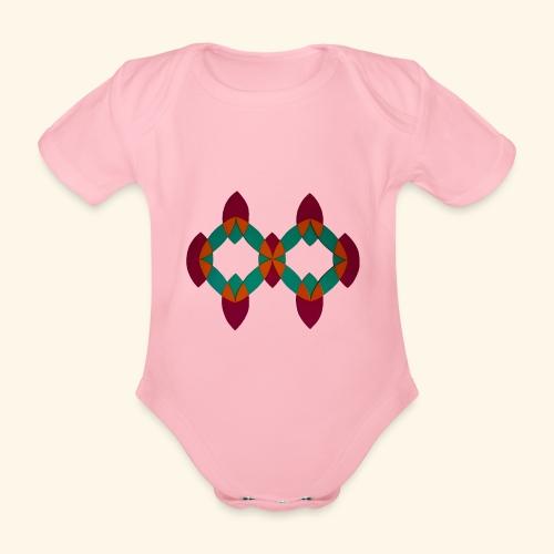 roseoranjegroen - Baby bio-rompertje met korte mouwen