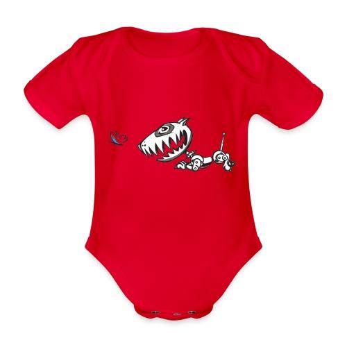 Robodog - Organic Short-sleeved Baby Bodysuit