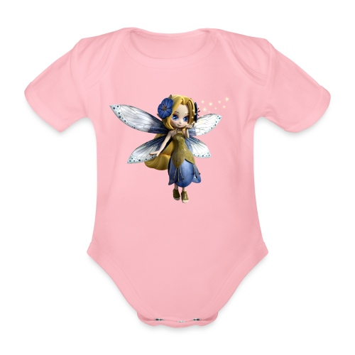 Blue-Sternchen Fairy - Baby Bio-Kurzarm-Body