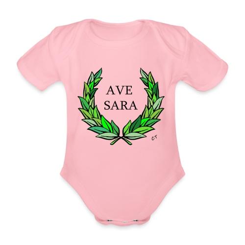 AVE SARA nome nascita modificabile a richiesta - Body ecologico per neonato a manica corta