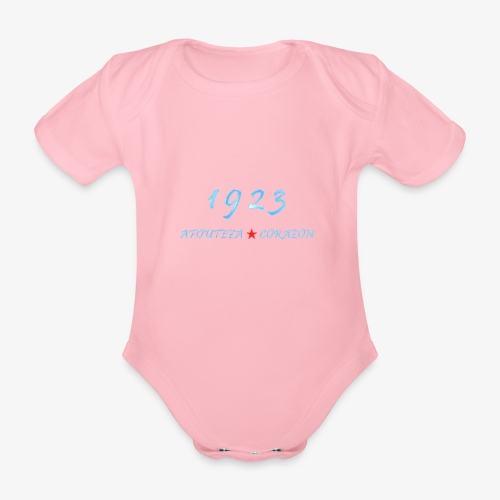 1923 - Body orgánico de manga corta para bebé