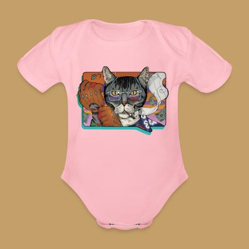 Crime Cat - Ekologiczne body niemowlęce z krótkim rękawem