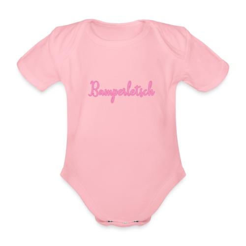 Bamperletsch in Pink - Baby Bio-Kurzarm-Body