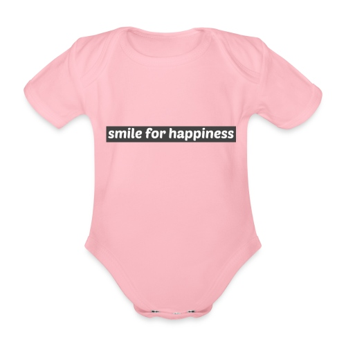 smile for happiness - Ekologisk kortärmad babybody