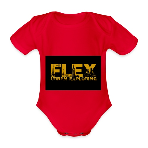 FlexUrban - Organic Short-sleeved Baby Bodysuit