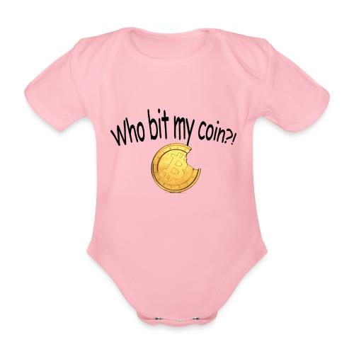 Bitcoin bite - Baby bio-rompertje met korte mouwen