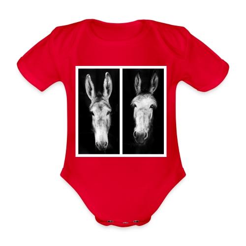 Eselköpfe-Esel - Baby Bio-Kurzarm-Body