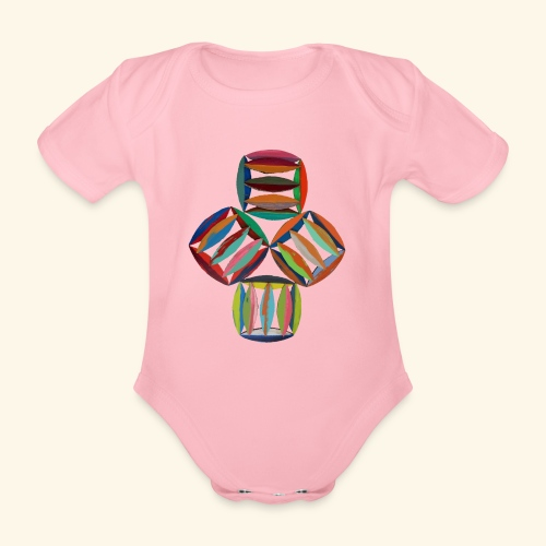square2square - Baby bio-rompertje met korte mouwen