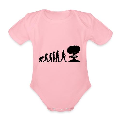 Evolution Nucléaire ou comment l humanité finira - Body Bébé bio manches courtes