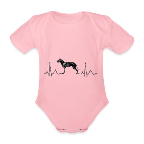 ECG met hond - Baby bio-rompertje met korte mouwen