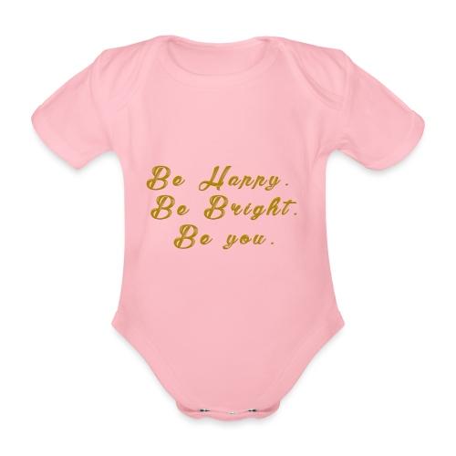 Be happy - Ekologisk kortärmad babybody
