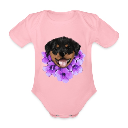 Rottweiler - Kortærmet babybody, økologisk bomuld