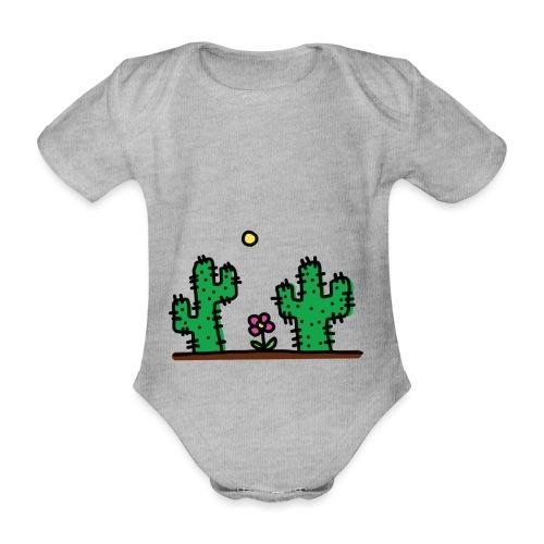 Cactus - Body ecologico per neonato a manica corta
