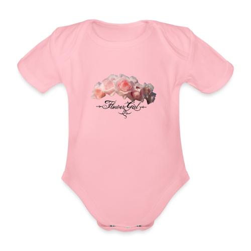 flower girl - Kortærmet babybody, økologisk bomuld