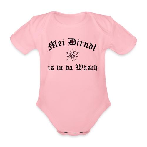 Mei Dirndl is in da Wäsch - Edelweiß - Baby Bio-Kurzarm-Body