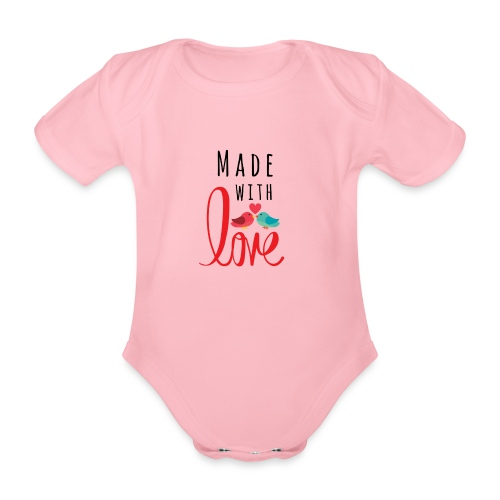 Made with love - Organic Short-sleeved Baby Bodysuit