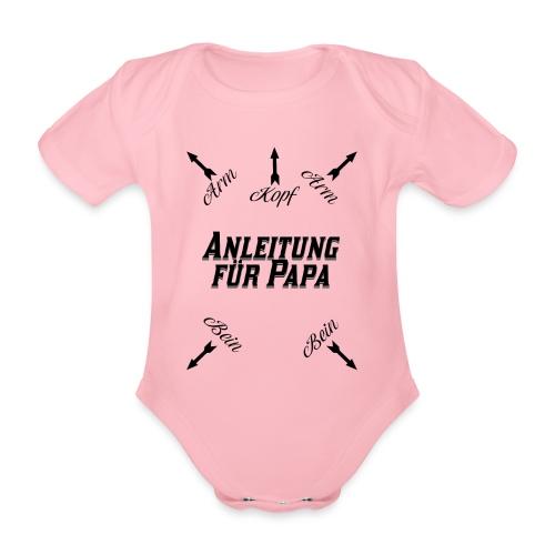 Anleitung für Papa Baby Geschenk - Baby Bio-Kurzarm-Body