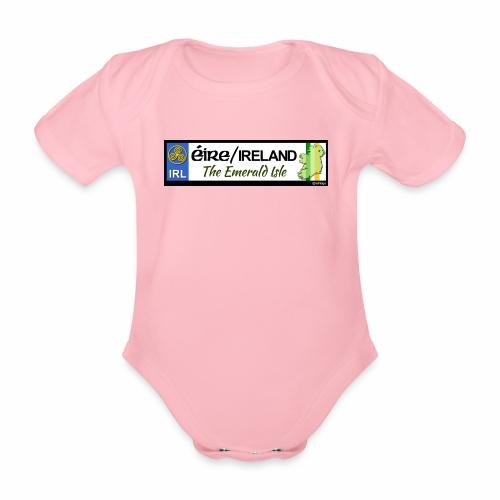 EIRE IRELAND IRL, The Emerald Isle, licence tag EU - Organic Short-sleeved Baby Bodysuit
