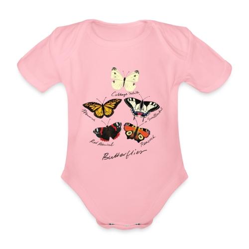 Butterflies - Organic Short-sleeved Baby Bodysuit