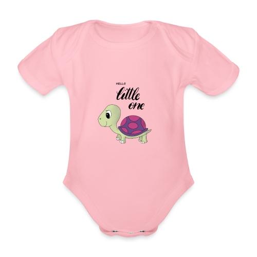 Little Turtle - Baby Bio-Kurzarm-Body