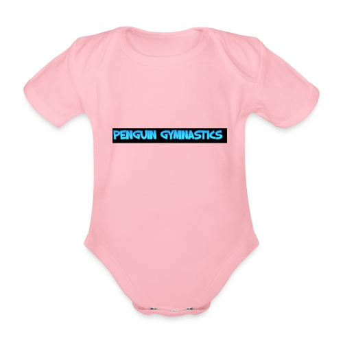 The penguin gymnastics - Organic Short-sleeved Baby Bodysuit
