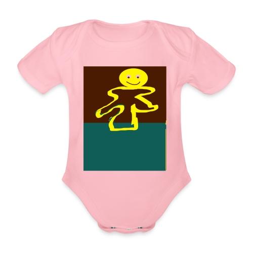 Glad mand - Kortærmet babybody, økologisk bomuld