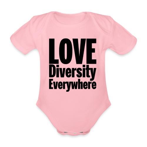 Love Diversity Everywhere - Organic Short-sleeved Baby Bodysuit