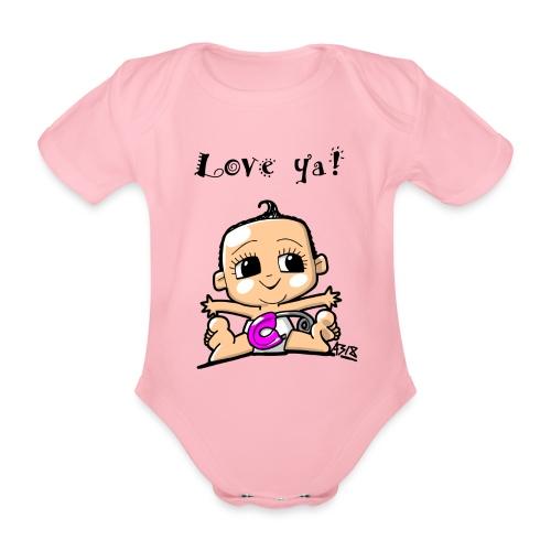 baby girl color - Baby bio-rompertje met korte mouwen