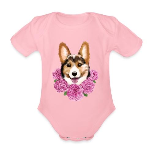 Corgi - Kortærmet babybody, økologisk bomuld