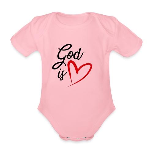 God is love 2N - Body ecologico per neonato a manica corta